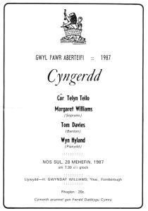 Gwyl Fawr Aberteifi 1987